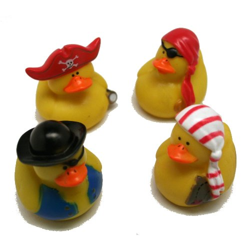 Fun Express 12 Mini Pirate Rubber Ducks Duckie Ducky Party Favors Novelty (1 Dozen)