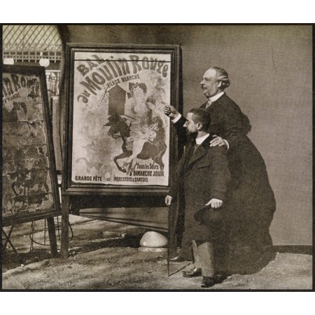 - Lautrec With Tremolada At The Moulin Rouge About 1890 From A Photograph By Joyant From The Book Toulouse Lautrec By Gerstle Mack Published 1938 Canvas Art - Ken Welsh  Design Pics (15 x 13)