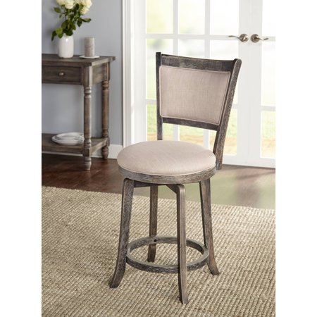 French Country Swivel Counter Height Stool Walmart Com