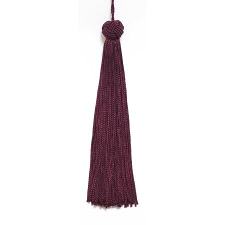 Set of 10 Ruby Woven Head Chainette Tassel, 5.5 Inch Long with 2 Inch Loop, Basic Trim Collection Style# BH055 Color: Ruby - (E10 Contact Set)