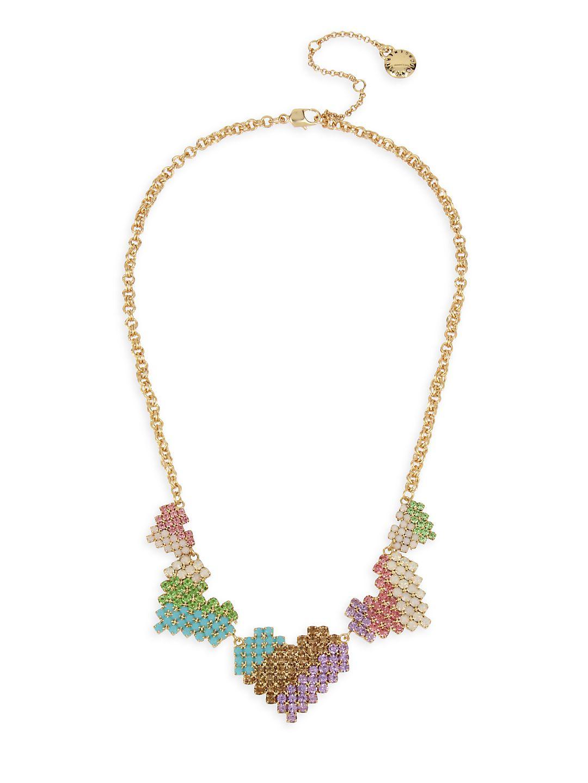 Heartbreaker Pastel Multi-Stone Heart Bib Necklace