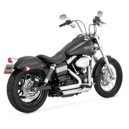 Vance & Hines 17227 Shortshots Staggered Exhaust (Vance Hines Quiet Baffles)