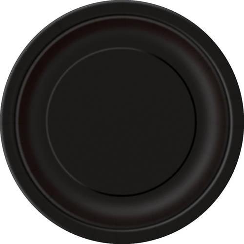 "7"" Black Dessert Plates, 70pk"