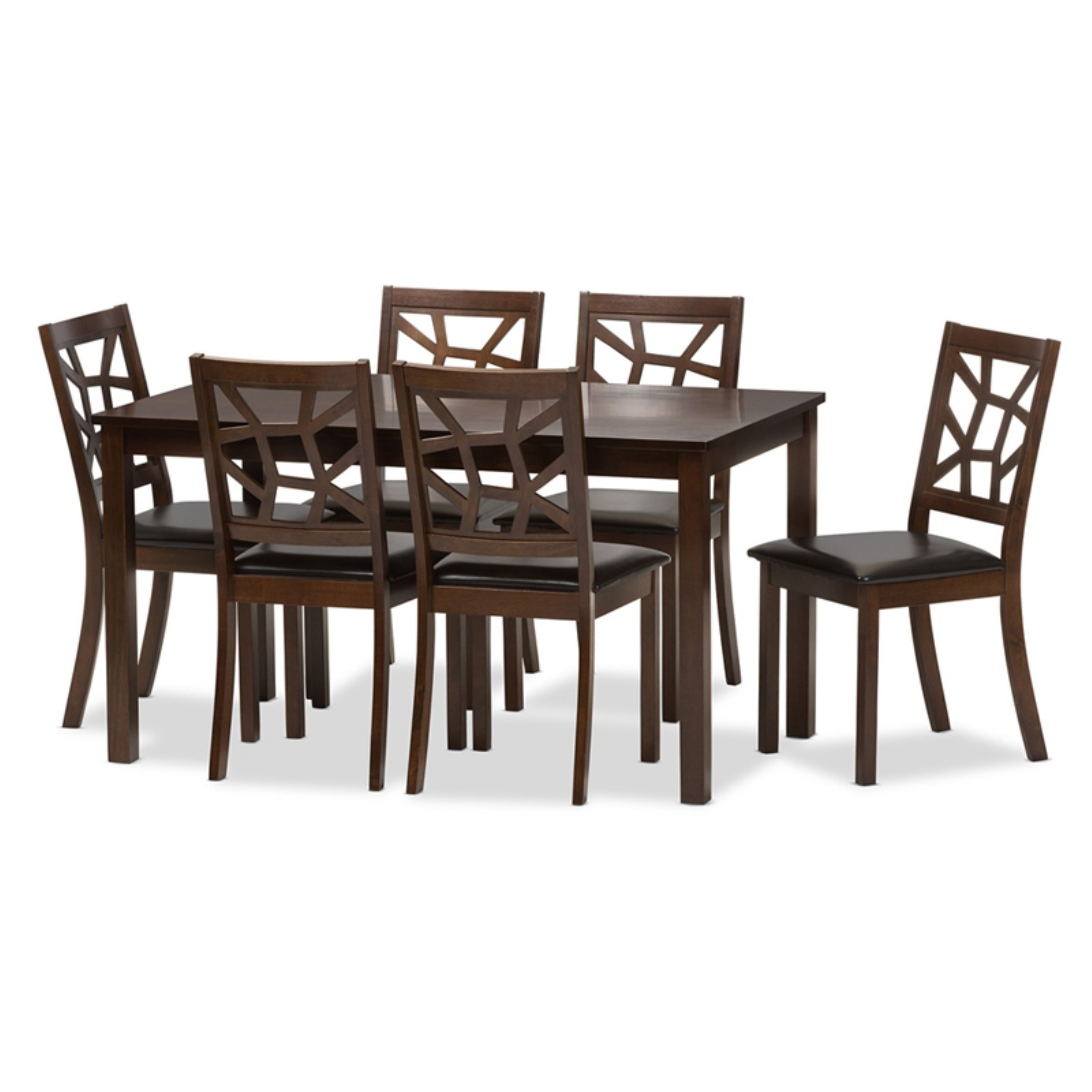 Baxton Studio Mozaika 7 Piece Dining Table Set