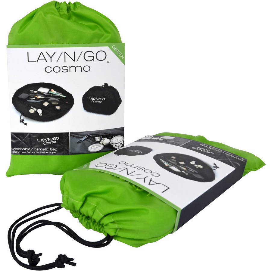 Lay-N-Go COSMO Cosmetic Bag, Lime Green