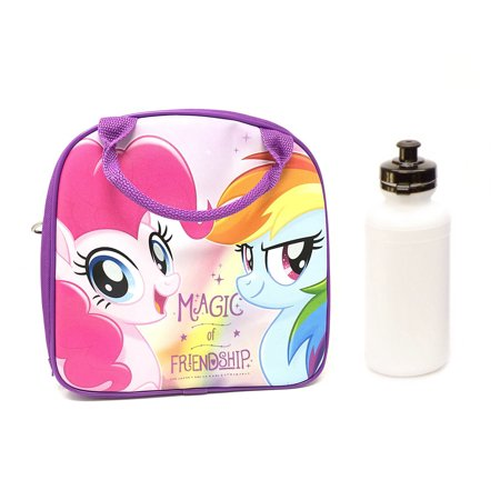 My Little Pony Lunch Box Bag with Shoulder Strap and Water Bottle - Pony Bottle Bags