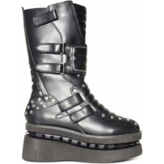 STORM-BLK-8 Storm Trooper Platform Boots Shoes Size for Womens, Black - Size Shoes 8 be5fb6
