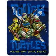 "Nickelodeon's Teenage Mutant Ninja Turtles ""Tough Turtle Blues"" 45"" x 60"" Fleece Throw"