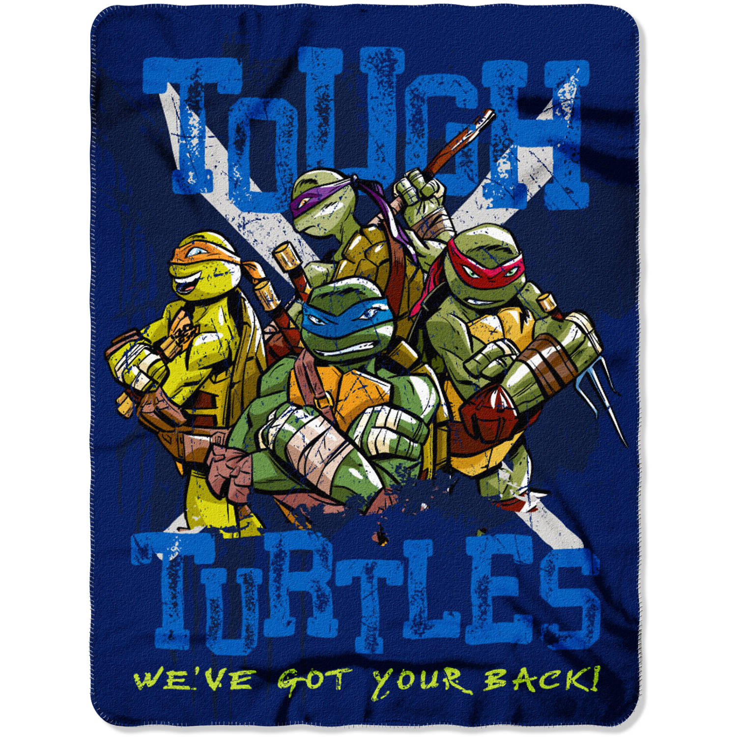 "Nickelodeon's Teenage Mutant Ninja Turtles ""Tough Turtle Blues"" 45"" x 60"" Fleece Throw"