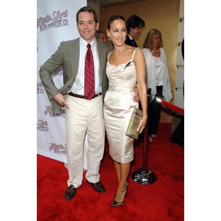 Matthew Broderick Sarah Jessica Parker At Arrivals For Opening Night Of Martin Short Fame Becomes Me Bernard B Jacobs Theatre New York Ny August 17 2006 Photo By George TaylorEverett Collection Celebr