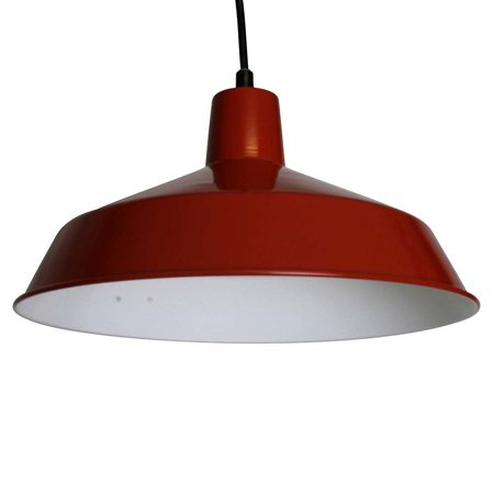 Commercial Grade Vintage Barn Red Hanging Pendant - 16