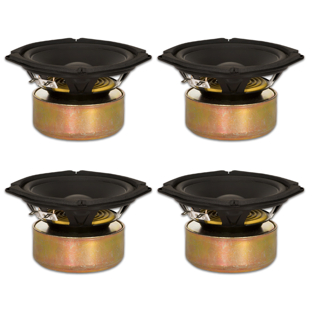 "4 Goldwood Sound GW-205/8S Shielded 5.25"" Woofers 130 Watt each 8ohm Replacement Speakers"