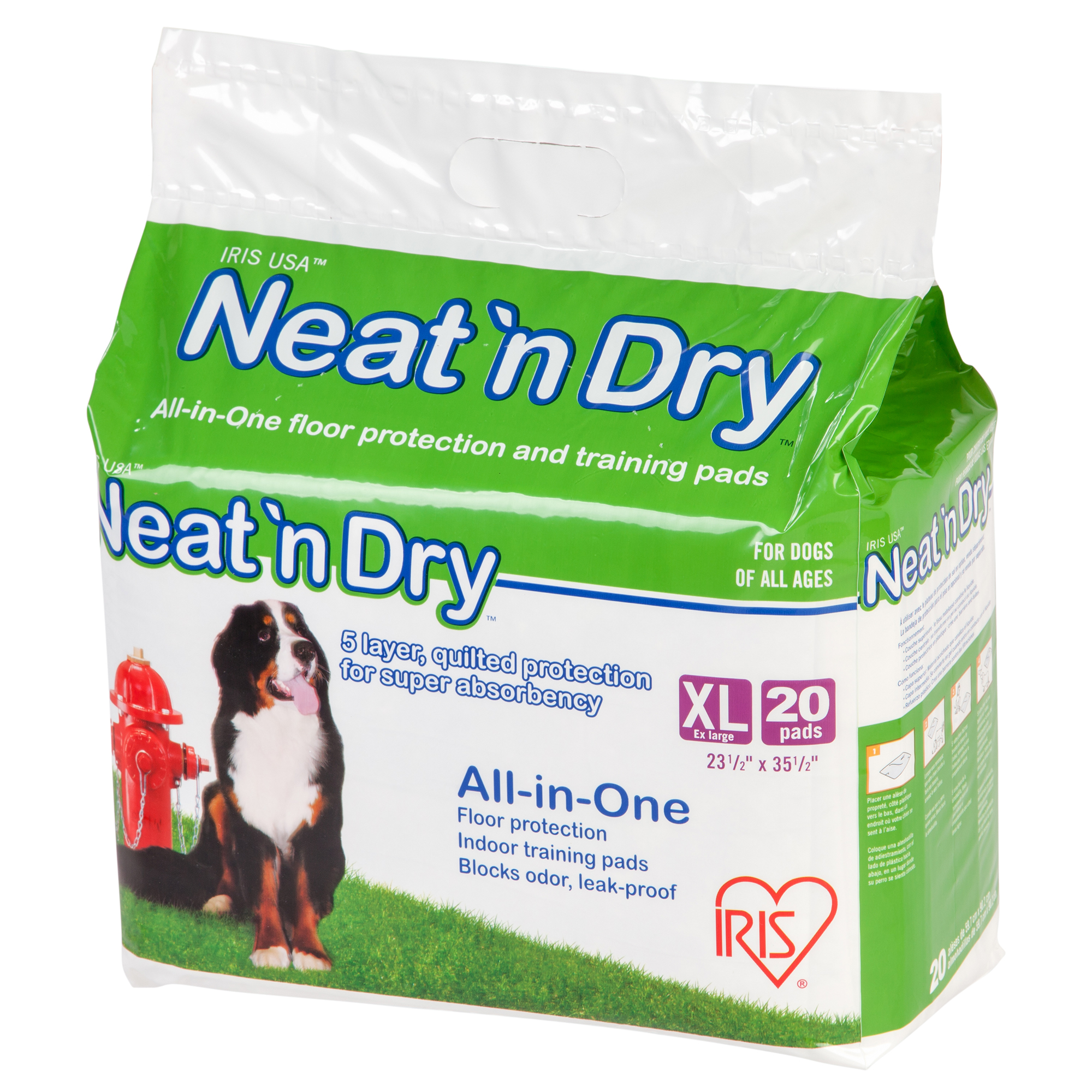 IRIS Neat 'n Dry Premium Pet Training Pads, Extra Large, 20 Count