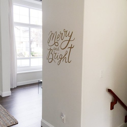 Urban Walls Merry and Bright Wall Decal
