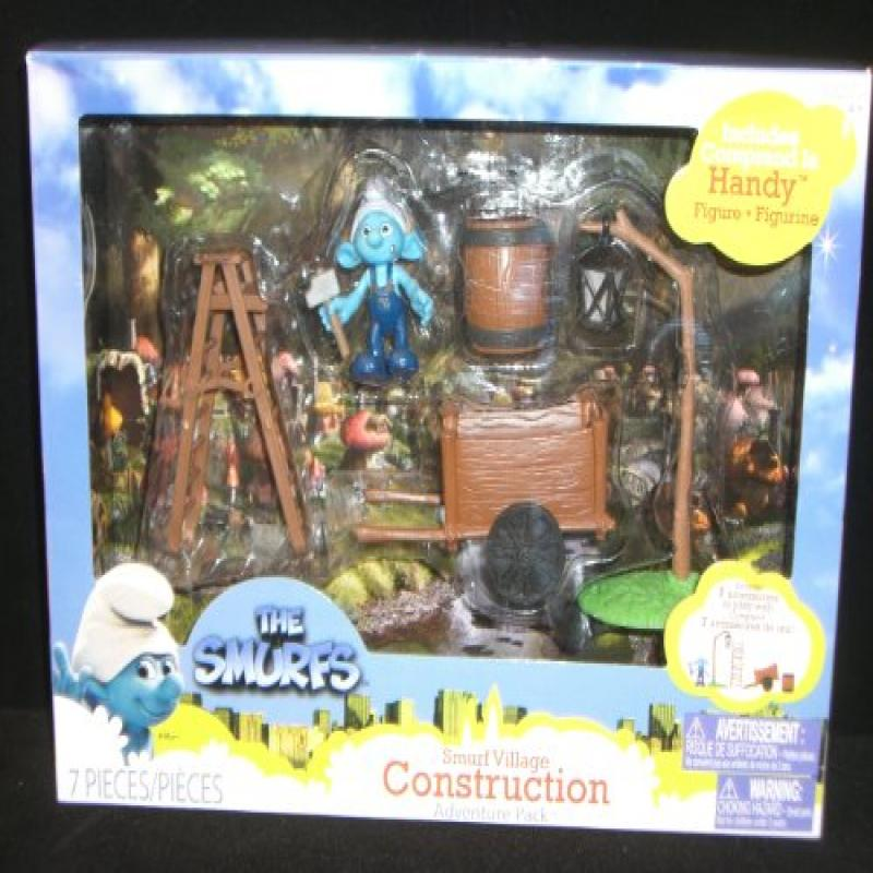 Handy in the Smurf Village Construction Gift Set: Smurfs Movie Adventure Theme Pack Series #2
