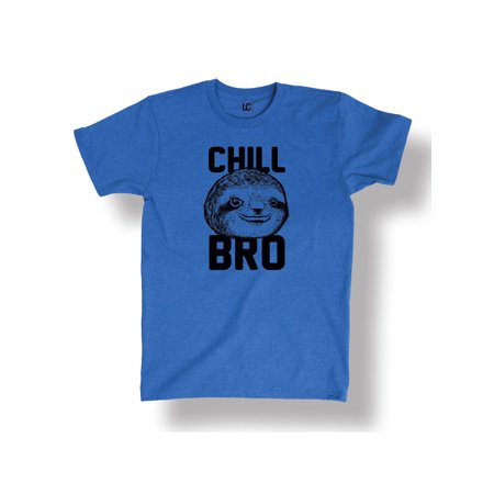 Chill Bro Sloth Funny Humor College Meme Relax Novelty Cool - Men's T-Shirt College Humor Tee