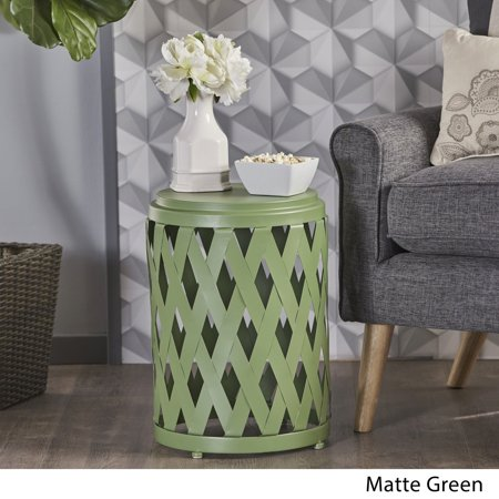 Christopher Knight Home Pecola 12-inch Round Lattice Side Table by  Green (Green Apple Square Table)