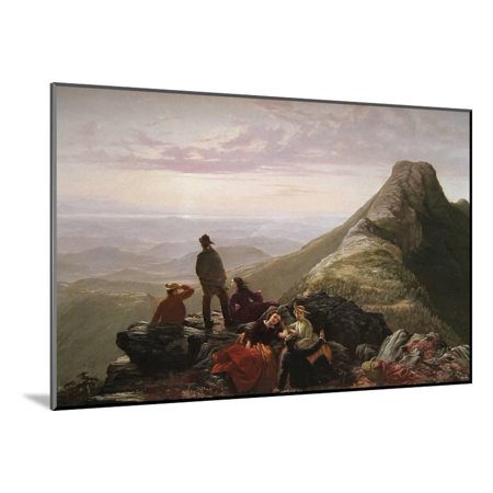 The Belated Party on Mansfield Mountain Wood Mounted Print Wall Art By James B. Thompson for $<!---->