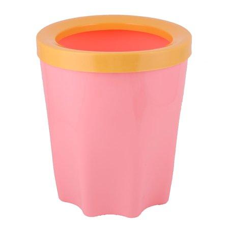 Kitchen bathroom plastic waste rubbish garbage trash can holder pink yellow - Pink kitchen trash can ...