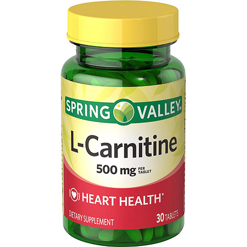 Spring Valley L-Carnitine Dietary Supplement Tablets, 500 mg, 30 count