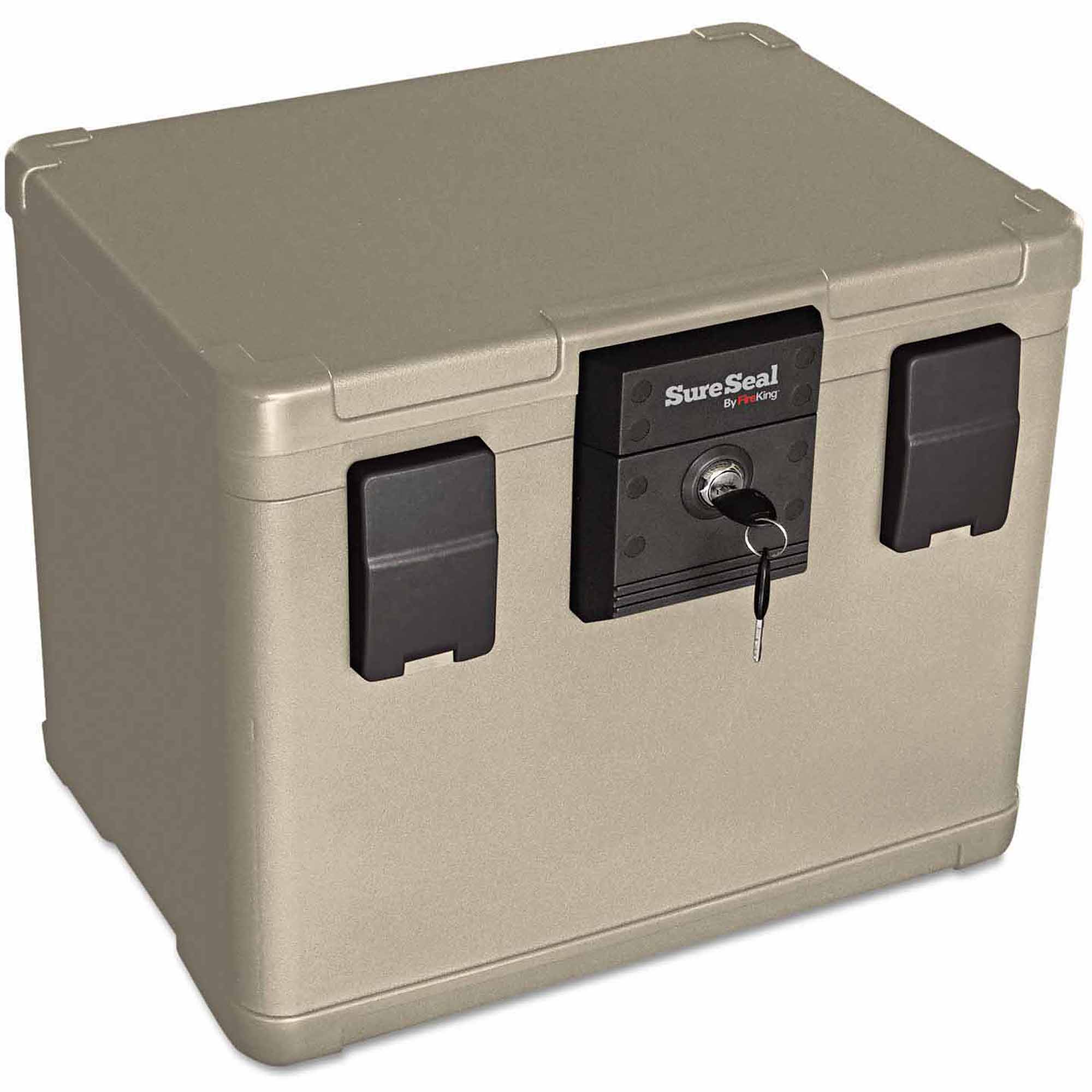 "SureSeal By FireKing Fire and Waterproof Chest, 16"" x 12.5"" x 13"", Taupe"