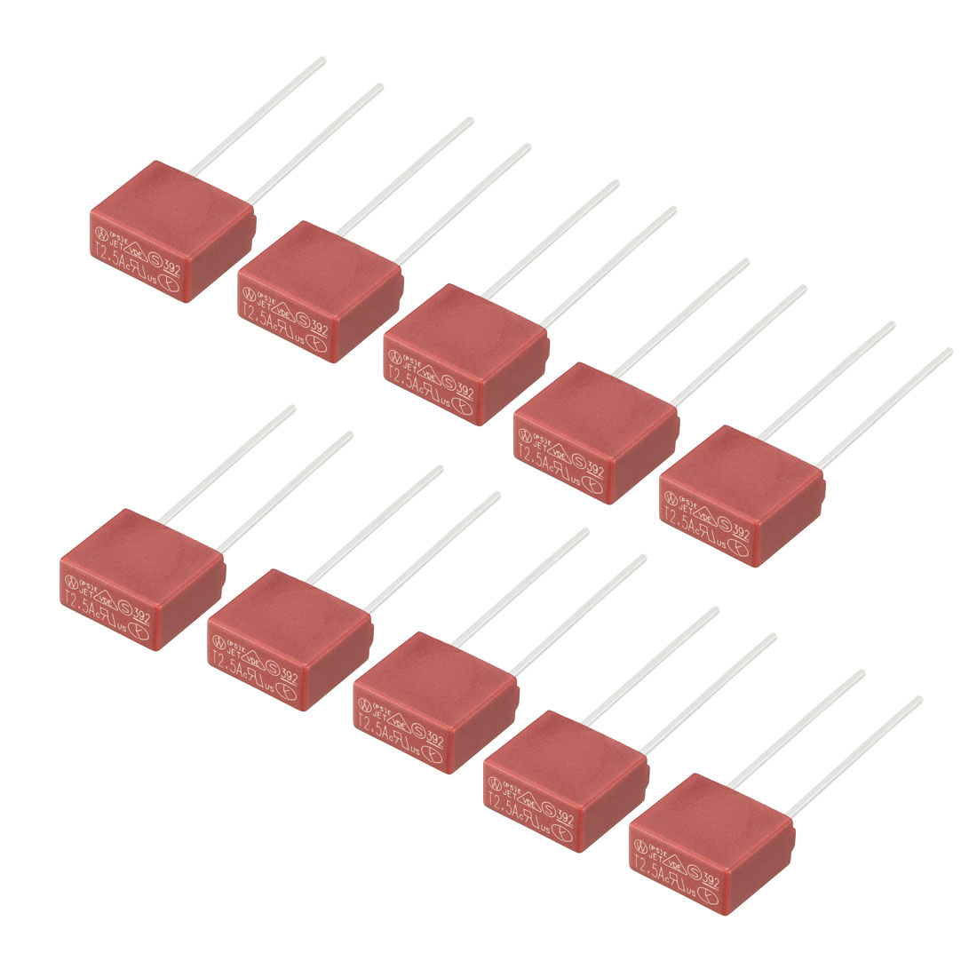 10Pcs DIP Mounted Miniature Square Slow Blow Micro Fuse T2.5A 2.5A 250V Red - image 4 de 4