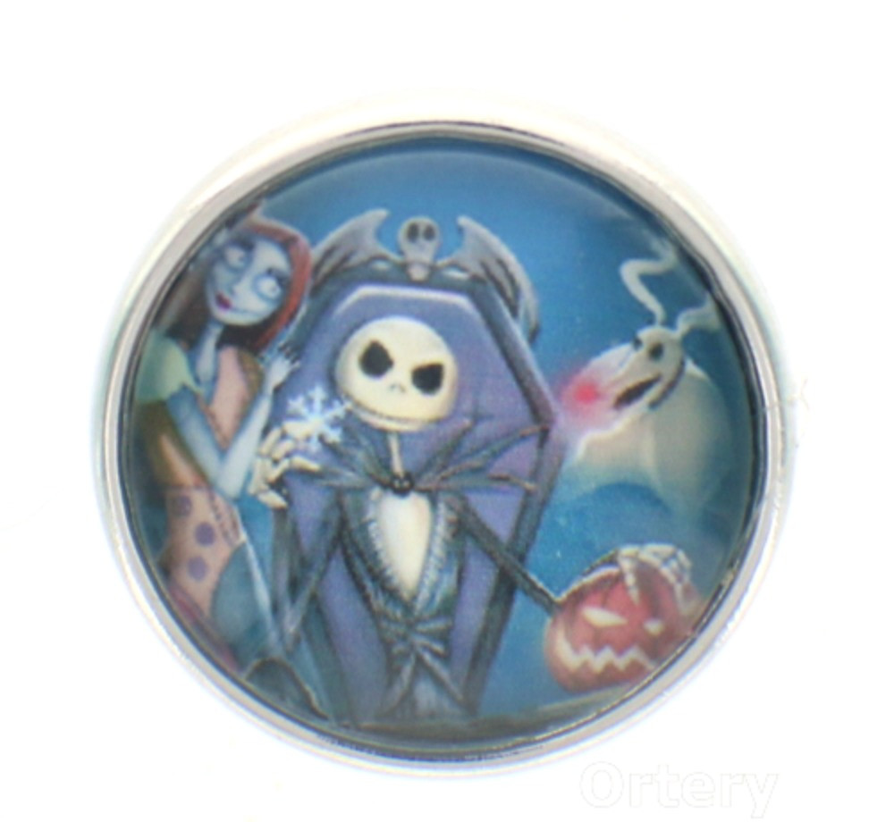 18mm Snap Charm Button Interchangeable Jewelry skeleton mummy coffin