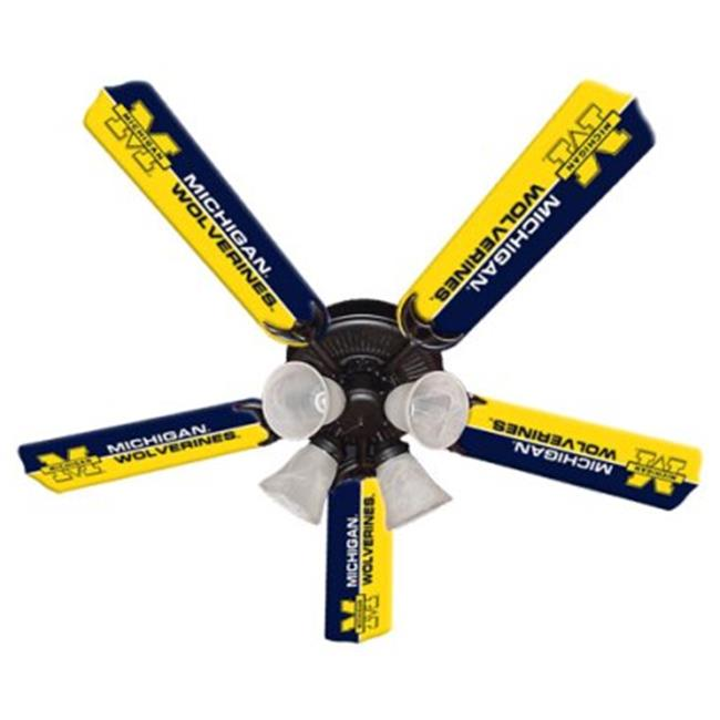 Ceiling Fan Designers 7995-MIC New NCAA MICHIGAN WOLVERINES 52 in. Ceiling Fan