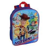 "Kids Toy Story 4 Backpack 15"" Takin' Action Forky Woody Buzz Duke Caboom"