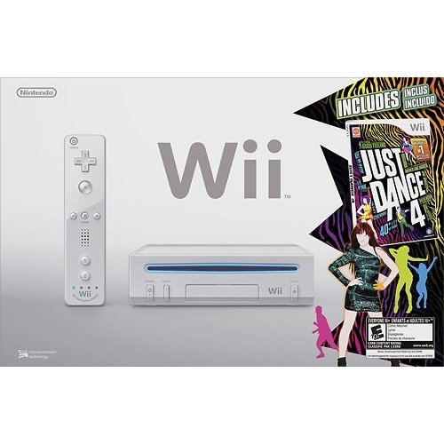 Refurbished Nintendo Wii Just Dance 4 Bundle White