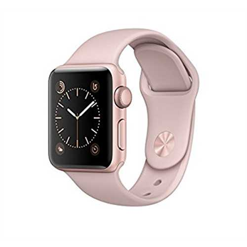 Refurbished Apple Watch Series 2, 38mm Rose Gold Aluminum Case with Pink Sand Sport Band by