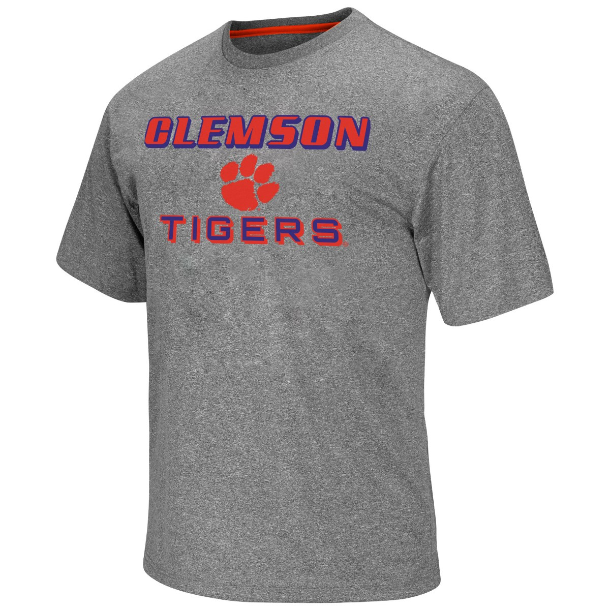 """Clemson Tigers NCAA """"Arena"""" Men's Performance Shirt Charcoal by Colosseum"""