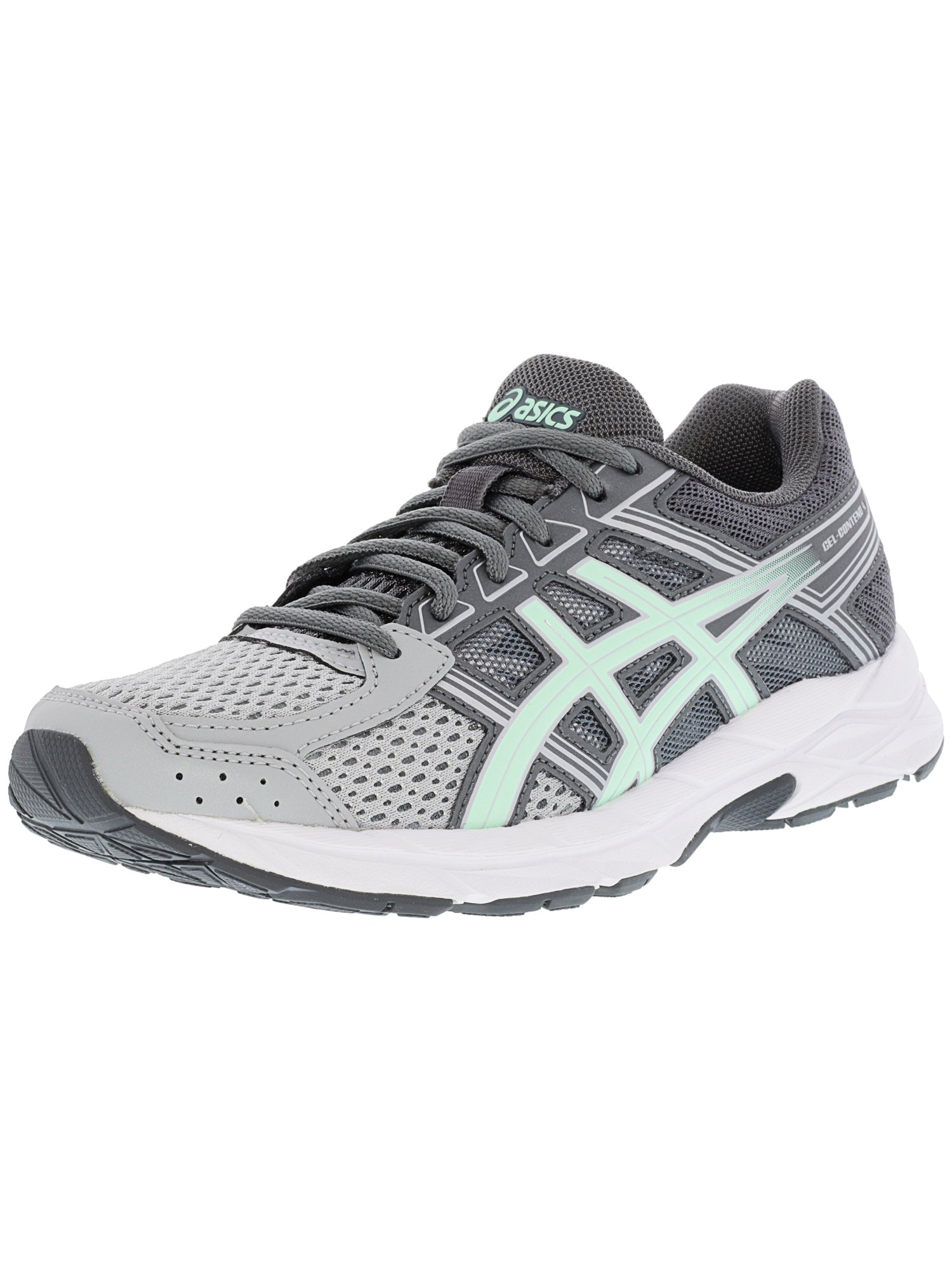 Asics Women's Gel-Contend 4 Mid Grey / Glacier Sea Silver Ankle-High Running Shoe - 6M