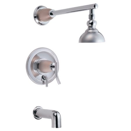Danze Sonora Pressure Balance Diverter Tub and Shower Faucet Trim with Lever Handle