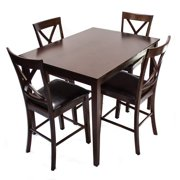 Home Source Industries Madison 5 Piece Rectangular Counter Height Dining Table Set