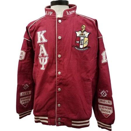 Buffalo Dallas Kappa Alpha Psi Mens NASCAR Twill Jacket [Crimson Red - - Red Coat Mens