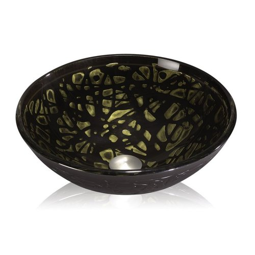 Lenova GV-40 Glass Vessel Sink, Gold Nugget