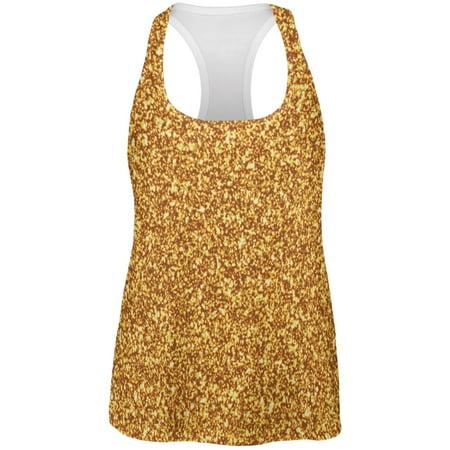 Glitter Top (Gold Glitter All Over Womens Racerback Tank)