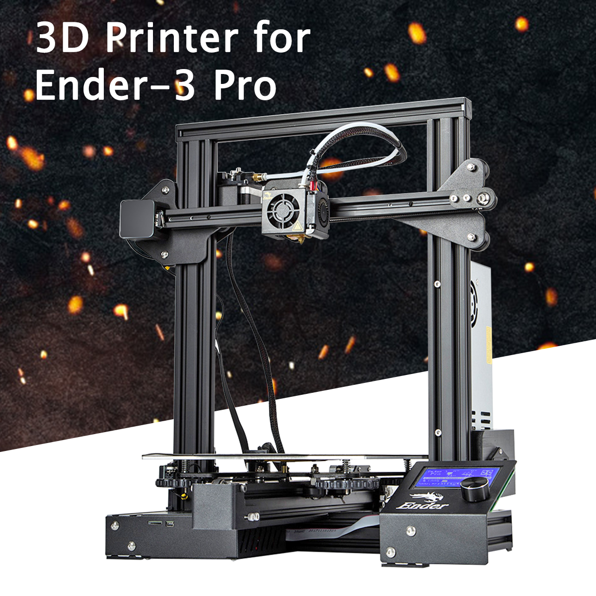 Ender® Creality 3 Pro DIY 3D Printer Upgraded High-P recision Printing  Quality Kit + Magnetic Heated Bed Power 220x220x250mm 1 75mm PLA Filament  270W