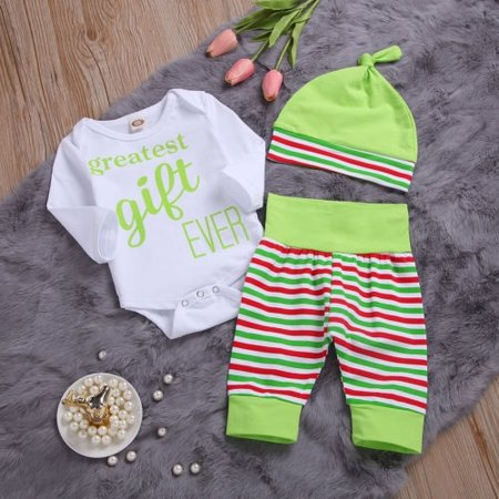 - Hot Seller Newborn Infant Baby Boy Girls Striped Romper Clothes Outfit Playsuit