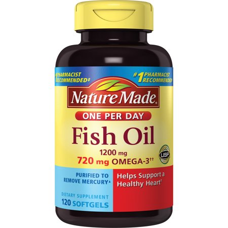 Nature Made Fish Oil 1200mg Softgels - 120 CT