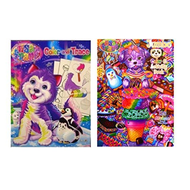 - Set Of 2 Lisa Frank Coloring Books - Color And Trace And Activity Book -  Walmart.com - Walmart.com