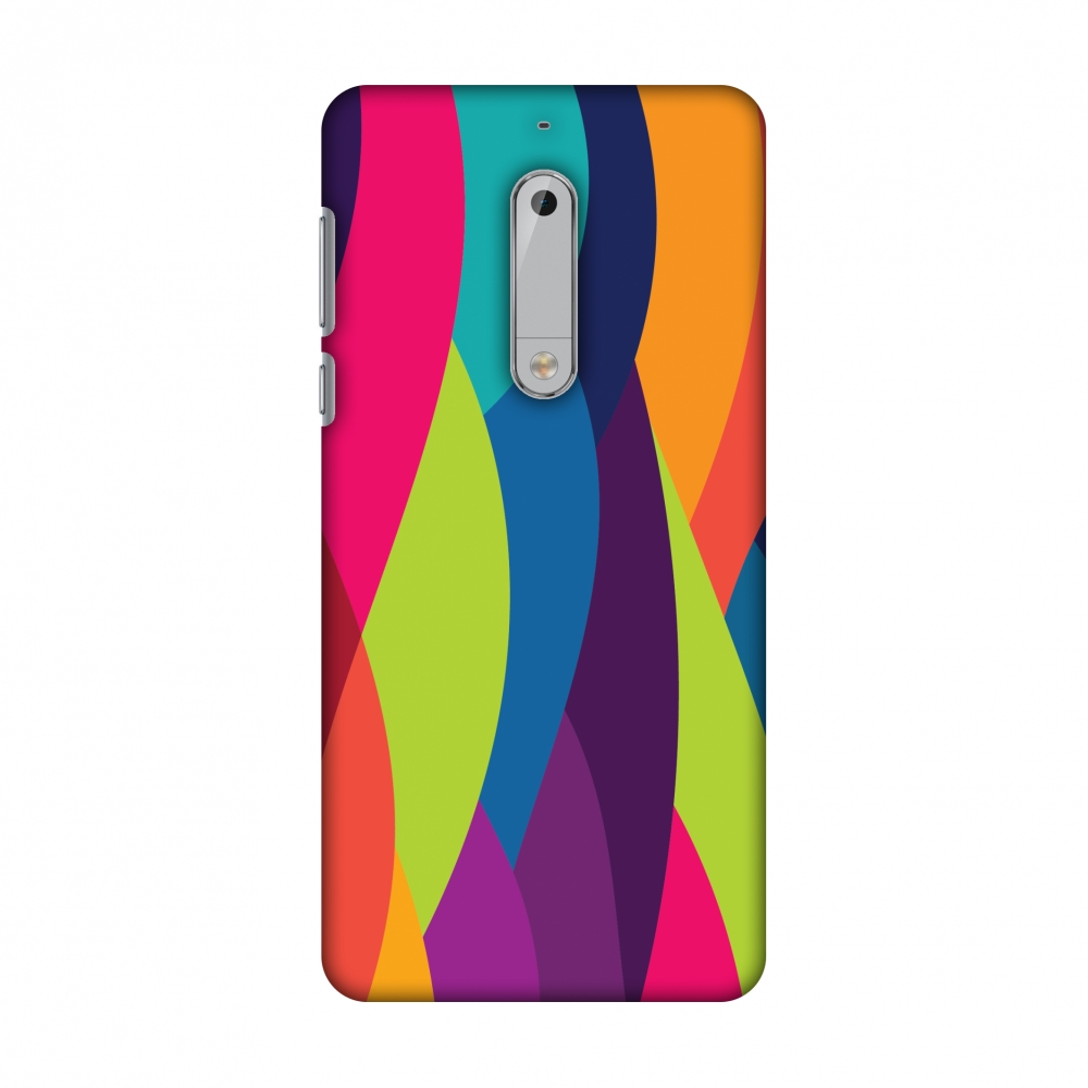 Nokia 5 Case, Premium Handcrafted Printed Designer Hard ShockProof Case Back Cover with Screen Cleaning Kit for Nokia 5 - Bold Waves