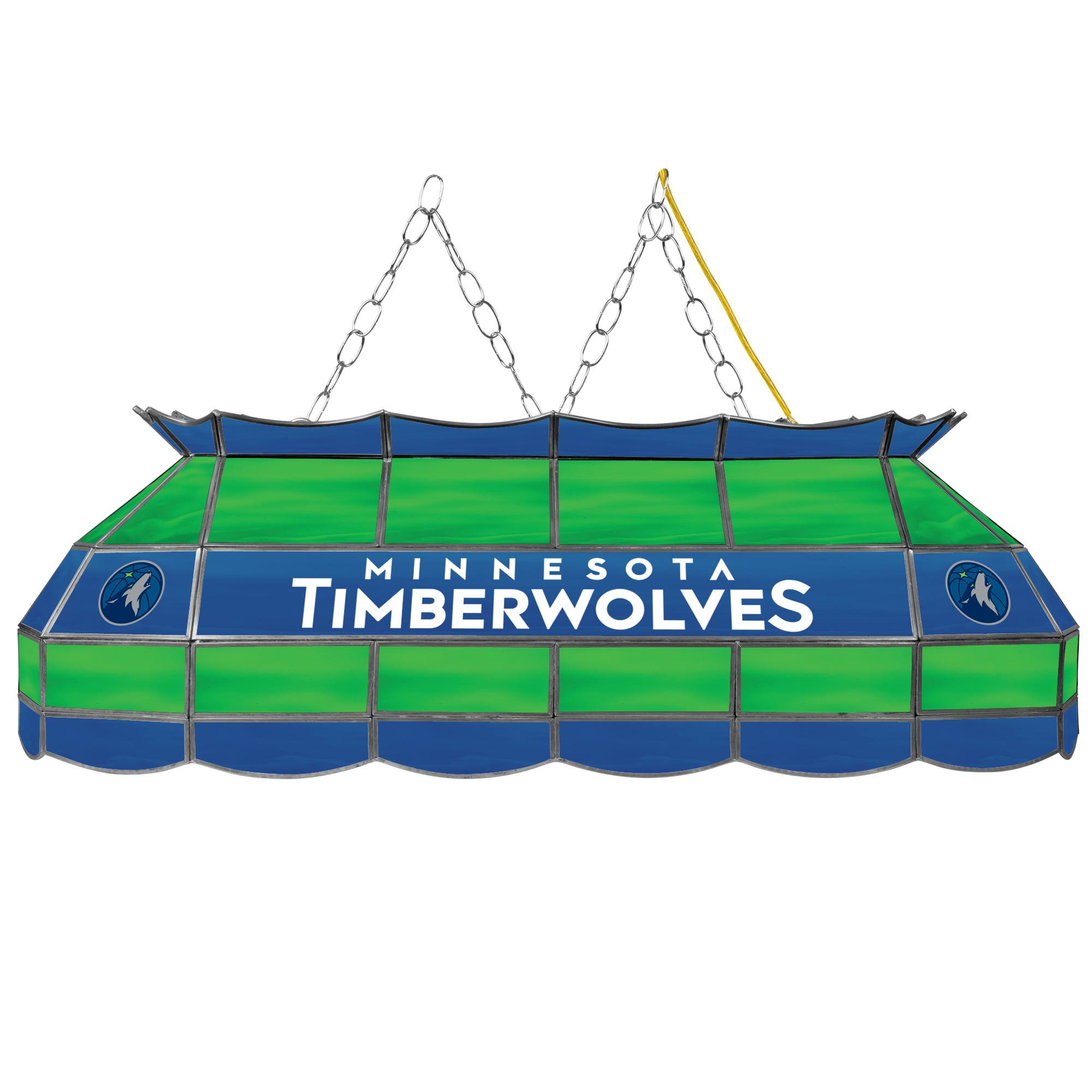 "Trademark NBA4000-MT 40"" Tiffany Style Lamp with NBA Logo, Minnesota Timberwolves"