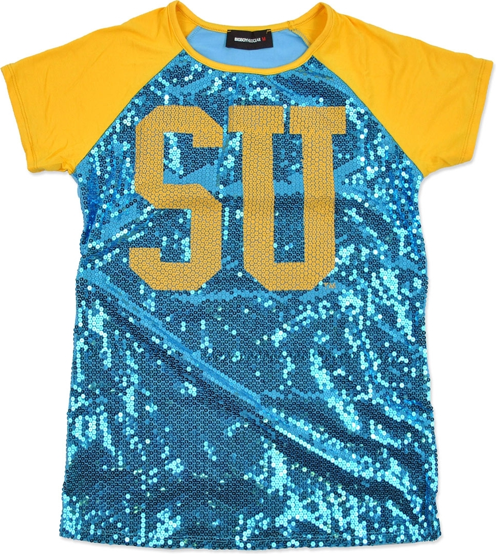 Southern Jaguars Ladies Sequins Tee [Sky Blue - M]