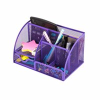 Pro Space Desk Organizer Mesh Collection Pencil Holder, 6 Compartments, Black