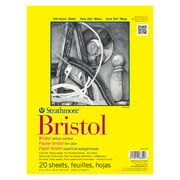 "Strathmore Bristol Paper Pad, 300 Series, Regular, 9"" x 12"", 20 Sheets"