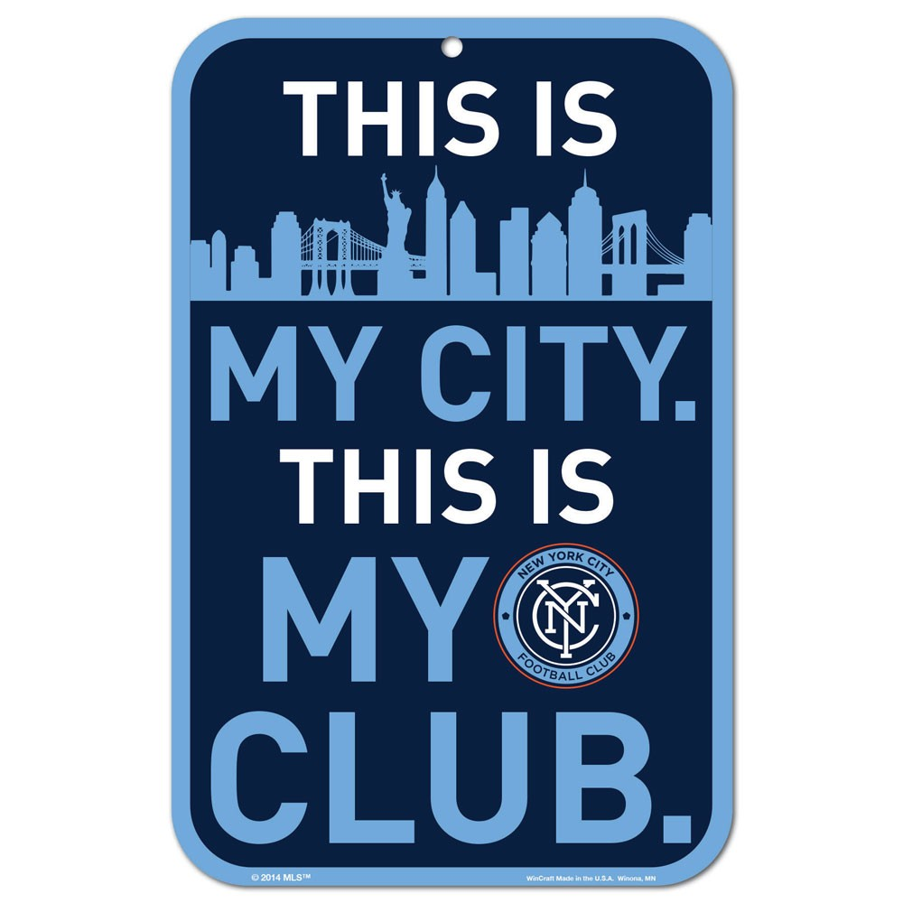 "New York City FC WinCraft 11"" x 17"" Reserved Parking Sign - No Size"