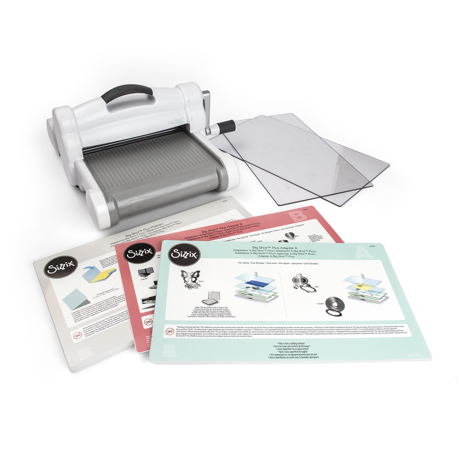 Sizzix Big Shot Plus Machine Only (White & Gray)(US Version)