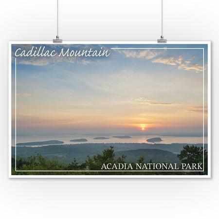 Acadia National Park, Maine - Cadillac Mountain - Lantern Press Photography (9x12 Art Print, Wall Decor Travel Poster) Cadillac Mountain Acadia National Park